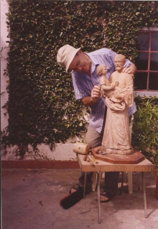 2 talla de San Cayetano en proceso